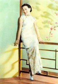 evolution qipao cheongsam dress Chinese singer and actress Zhou Xuan in cheongsam 1930s Shanghai source: wiki