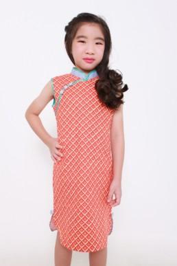 Girls CNY cheongsam Qipao kids party clothes Racial harmony performance /Girls cheongsam(qipao)