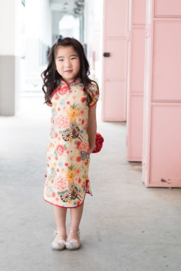Kids Cheongsam classic qipao gold