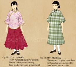Cheongsam chinese dress 1911-1920