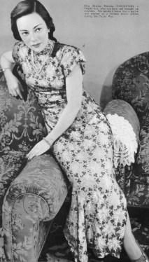evolution qipao cheongsam dress Shirley Yamaguchi(Li XiangLan) loves wearing Chinese Qipao. 1947