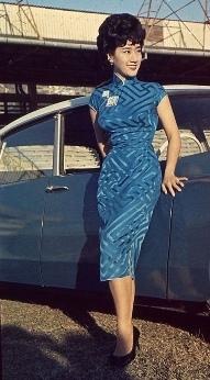 evolution qipao cheongsam dress Hong Kong 1960s model