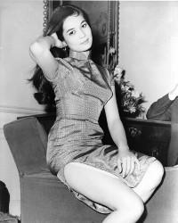 Nancy Kwan 1970s in qipao, The World of Suzie Wong evolution qipao cheongsam dress